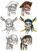 foto of dread head  - Pirates Skulls  - JPG
