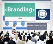 Business People Branding Presentation Concept