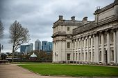 Old Royal Naval College with Cloudy Sky in Greenwich, London, England