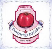 Pomegranate juice label