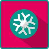 Vector snowflake flat icon. Eps10