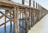 Wooden Jetty In A Tropical Lagoon