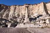 pic of hoodoo  - Wahweap Hoodoos with Clear Sky in the Background - JPG