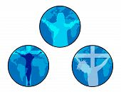 picture of crucifixion  - Vector Illustration of Jesus crucifixion and resurrection - JPG