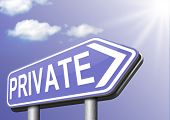 private information restricted area personal data and info protect privacy