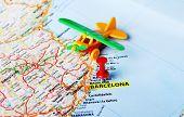 Barcelona ,spain Map Airplane
