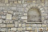 Old Stone Wall With Niche