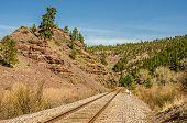 Disappearing Railroad Tracks