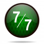 7 per 7 green internet icon
