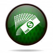 money green internet icon