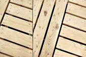 Wood Herringbone Pattern Paneling Detail