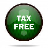 tax free green internet icon