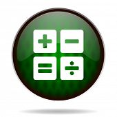 calculator green internet icon