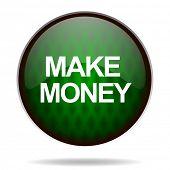 make money green internet icon