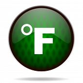 fahrenheit green internet icon