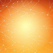 Modern Abstract Molecule Net Connection Shine