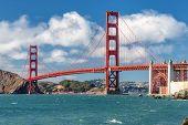 Sea and bridge Golden Gate