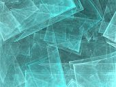 Glacial abstract shapes made of fractal textures.