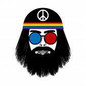 Hippie Face Icon