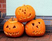 Halloween pumpkin heads