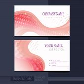 Smooth Curve Lines Background Business Card