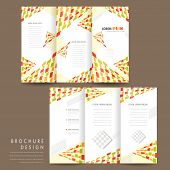 Modern Mosaic Style Tri Fold Brochure Template