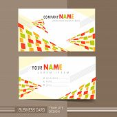 Colorful Modern Mosaic Style Business Card