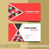 Abstract Modern Geometric Business Card