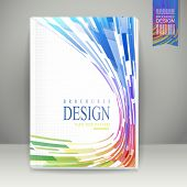 Geometric Streamlined Background Brochure