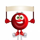 stock photo of hemoglobin  - an illustration of a Funny red blood cell - JPG