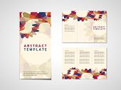 Abstract Background Tri Fold Brochure Template