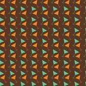 Martini Seamless Vector  Pattern. Retro Color