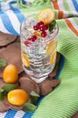 picture of kumquat  - Refreshing kumquat and red currant garnished cocktail - JPG