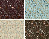 Set of foral seamless patterns, vector illustration