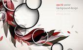 eps10 vector elegant ornamental silhouette foliage elements background