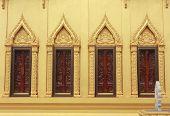 Church Window In Temple Thailand