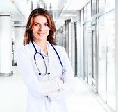 woman doctor at Hospital in