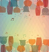 picture of cocktail menu  - Multicolor transparency cocktail glass design background for menu cover wine list or salad bar - JPG