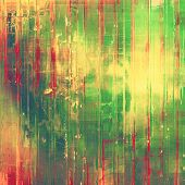 Vintage texture. With different color patterns: orange, green, yellow, red