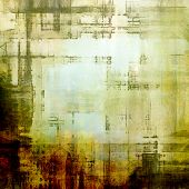 Grunge texture, Vintage background. With different color patterns: brown, green, gray