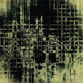 Old designed texture as abstract grunge background. With different color patterns: green, gray, black