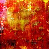 Grunge background with space for text or image. With different color patterns: red, orange, brown, yellow