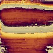 Old abstract texture with grunge stains. With different color patterns: yellow, brown, gray