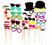 stock photo of  lips  - Photobooth Birthday and Party Set  - JPG