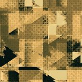 Grunge texture, distressed background. With different color patterns: yellow, brown, gray, black