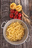 tagliatelle and ingredients
