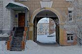 Vorkuta city in winter.