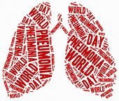 Word Cloud Illustration Related To Pneumonia.