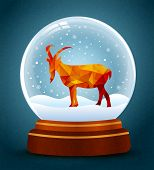 Snow Globe New Year Of Goat