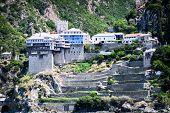 Monastery Dionisiou At Agion Oros (holly Mountain) Greece